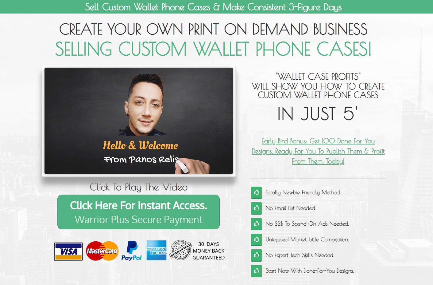 Create your own print on demand business selling custom wallet phone cases.(Wallet Case Profits)