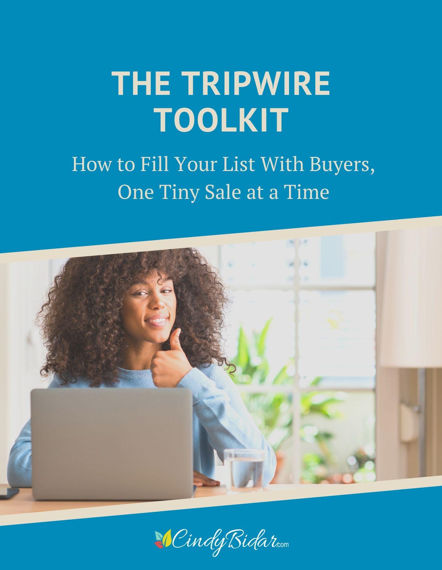 想象一下,如果提供一个如此诱人、如此不可抗拒的报价,以至于那些5分钟前才第一次见到你的订阅者也会忍不住购买的产品。(The Tripwire Toolkit)