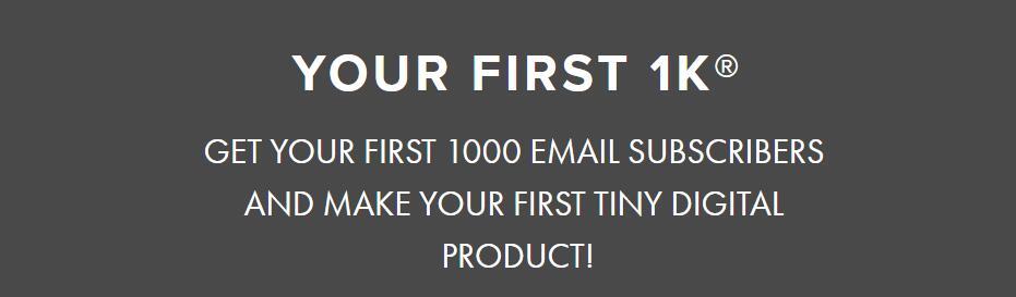 邮件营销:向您展示如何增加您的电子邮件订阅列表,以及如何创建和销售您的第一个数字产品(Your First $1k)