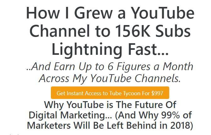 实战教你我是如何将一个YouTube频道快速发展到156000订阅者的(Tube Tycoon – Grow a YouTube Business From Scratch)