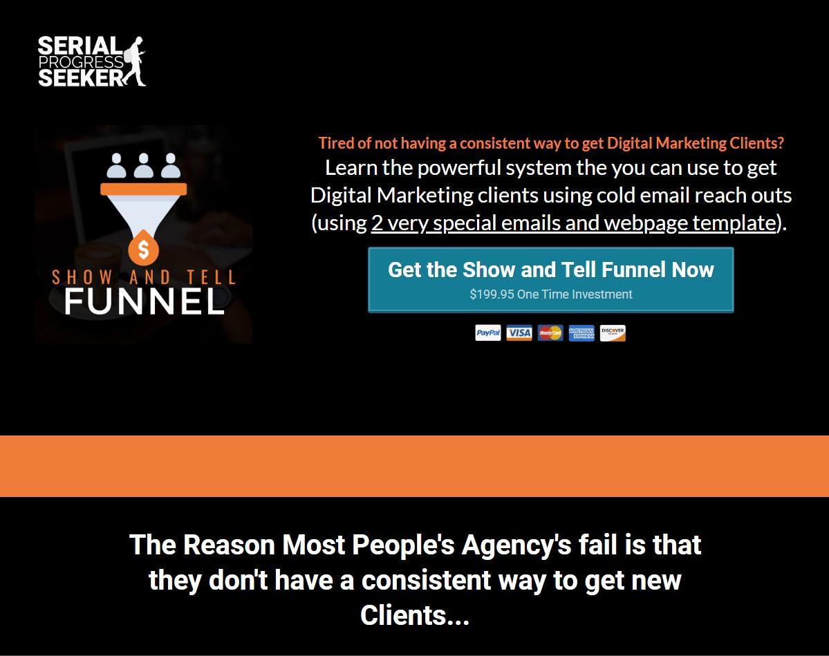 当大多数人试图通过冷冰冰的邮件来获得客户的时候,他们甚至在努力让人们打开他们的邮件时...(The Show and Tell Funnel)