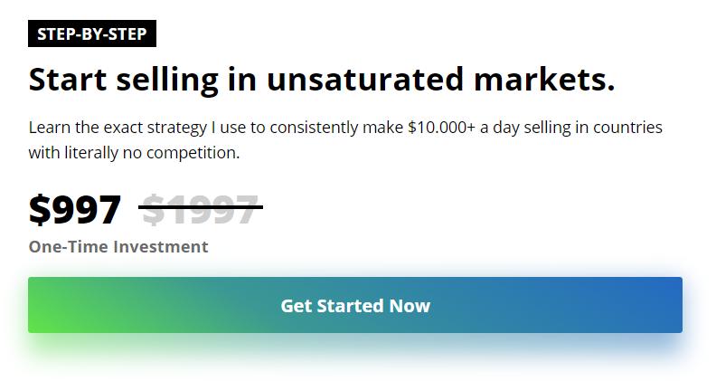 如果你已经在Dropshipping并有些经验,那么学习我使用的准确的战略,持续赚钱,000+每天!(Unsaturated Markets Blueprint)