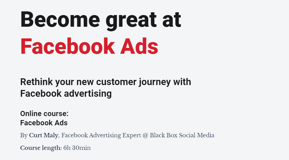 Facebook广告运营大师(Become Great at Facebook Ads)