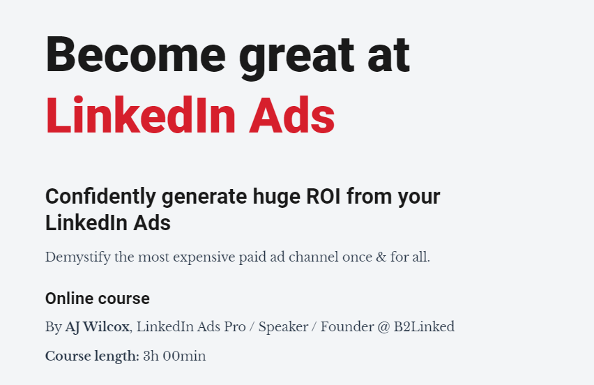 Linkedin广告运营大师(Become Great at LinkedIn Ads)