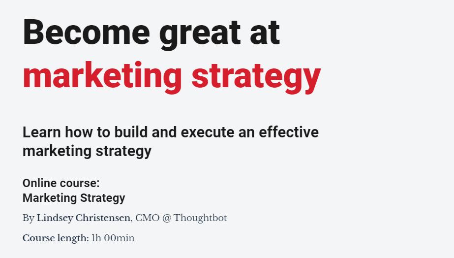 市场营销策略大师 - 学习如何建立和执行有效的营销策略!(Become Great at Marketing Strategy)