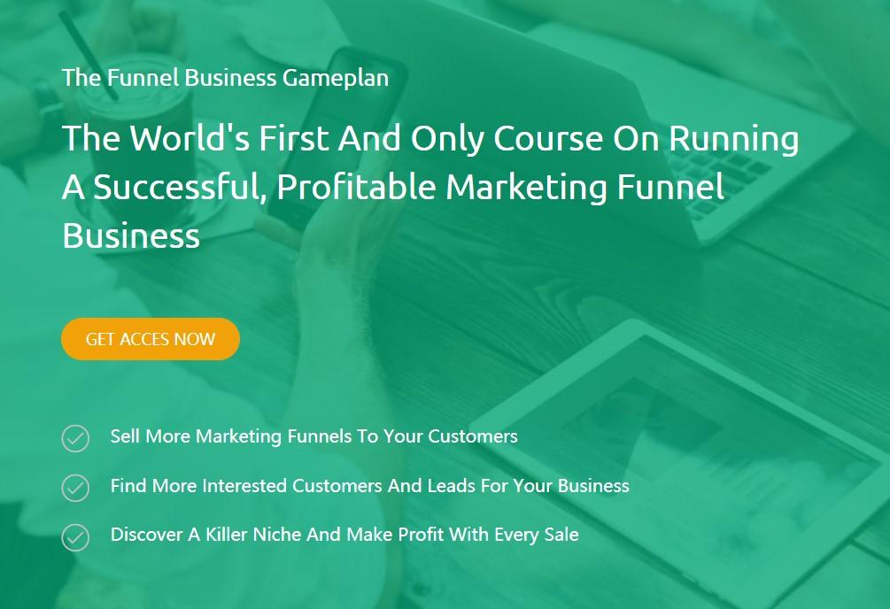 没有方向,你永远不会盈利!开始创造并主导一个有利可图的利基市场!(The Funnel Business Gameplan)