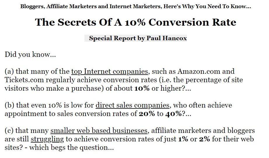 特别报告:向你展示直销代表通常如何达到20%-40%的转化率(The Secrets of a 10% Conversion Rate)