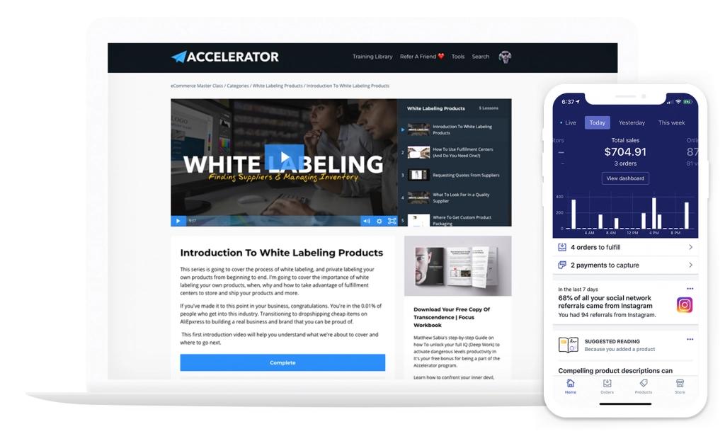 在30-60天内通过Shopify实现你的第一个200美元/天的在线收入(eCommerce Accelerator)