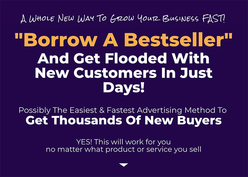 这可能是获得成千上万新买家,最简单和最快的广告方法了。(Borrowed Bestseller)