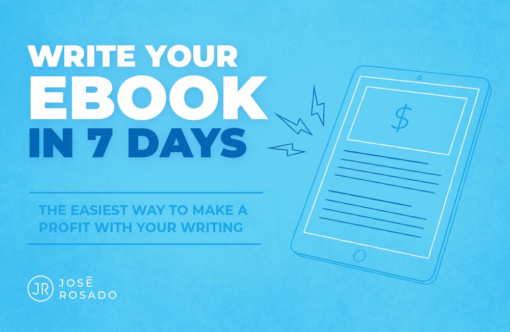 电子书项目,赚钱原来如此简单!(Write Your Ebook In 7 Days)